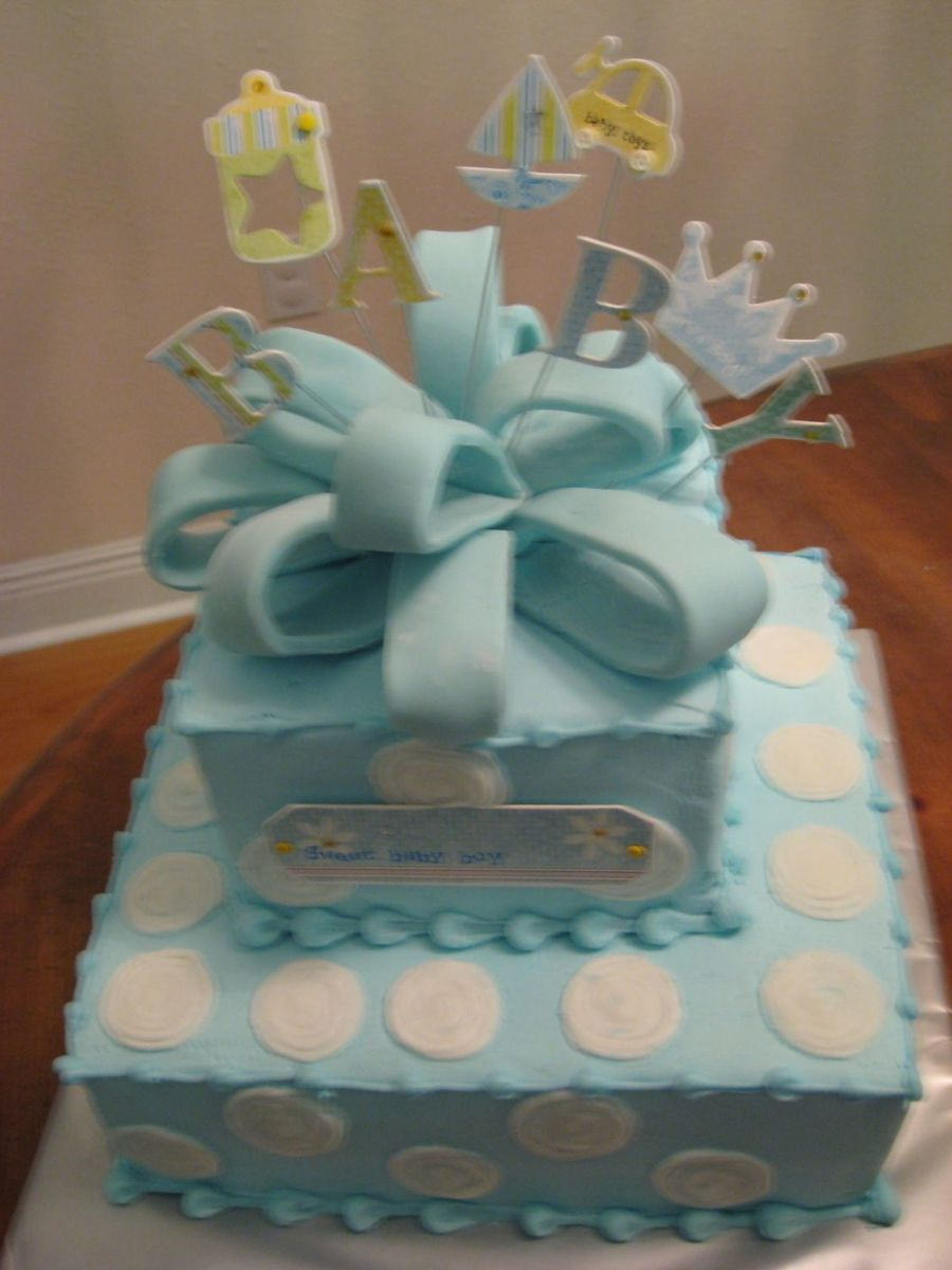 Blue With White Polka Dots on Cake Central