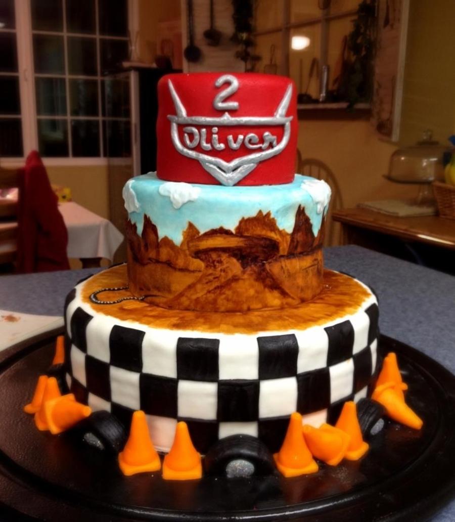 Stupendous Pixars Cars Themed Birthday Cake Cakecentral Com Personalised Birthday Cards Xaembasilily Jamesorg