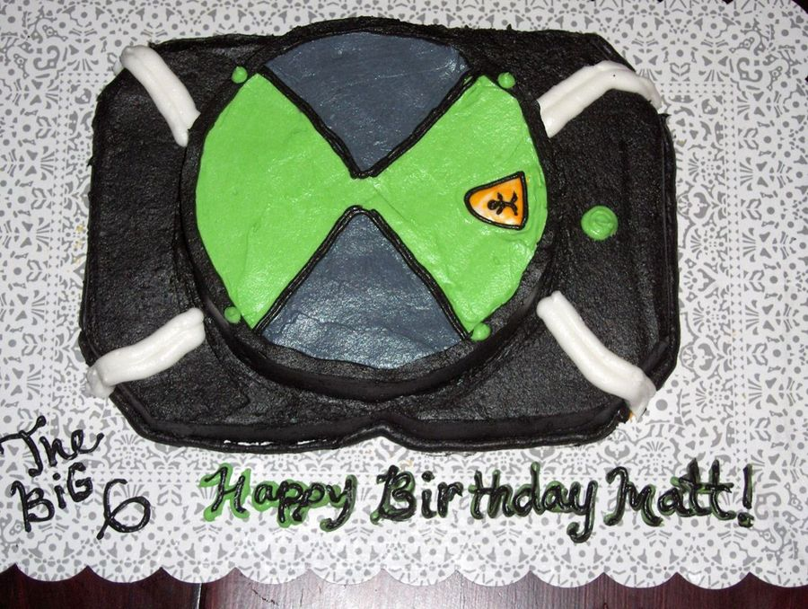 Ben 10 Omnitrix on Cake Central