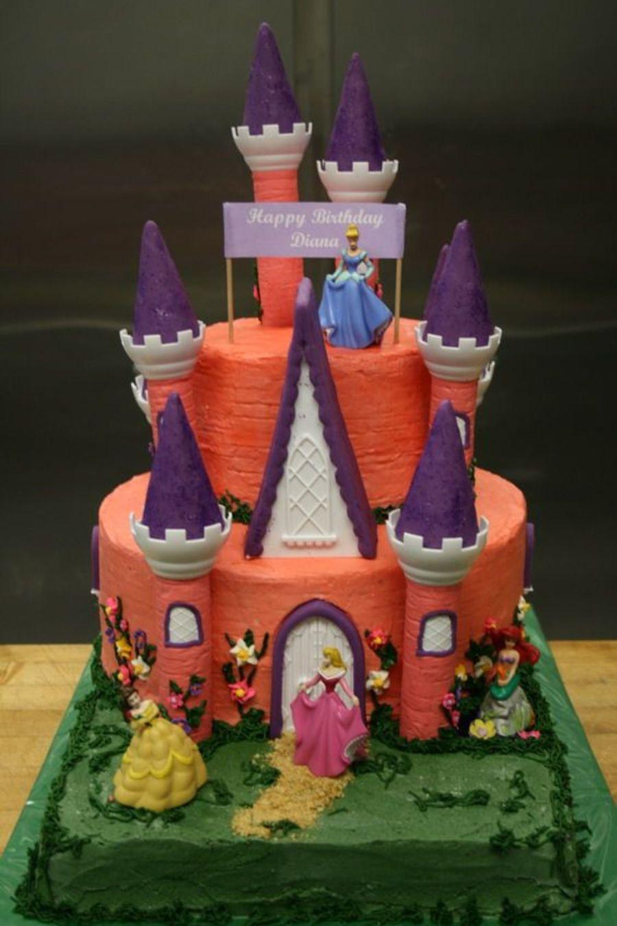 pink castle cake on cake central