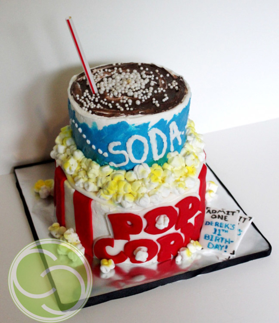 Movie Theater Popcorn And Soda on Cake Central