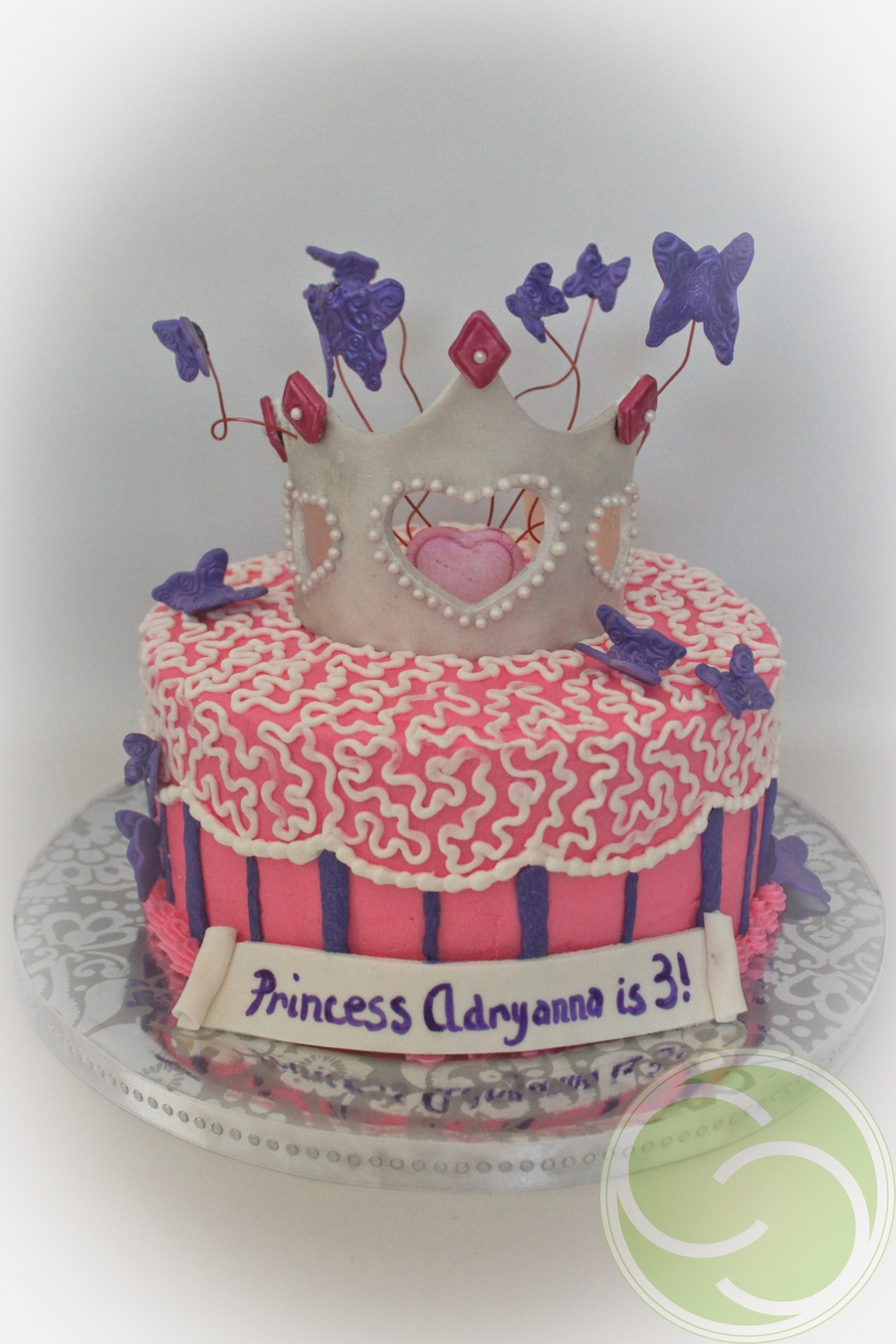 Princess Adryanna's Cake With Butterflies on Cake Central