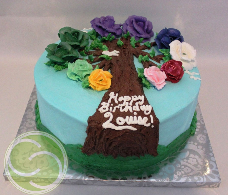 Rose Birthstone Family Tree on Cake Central