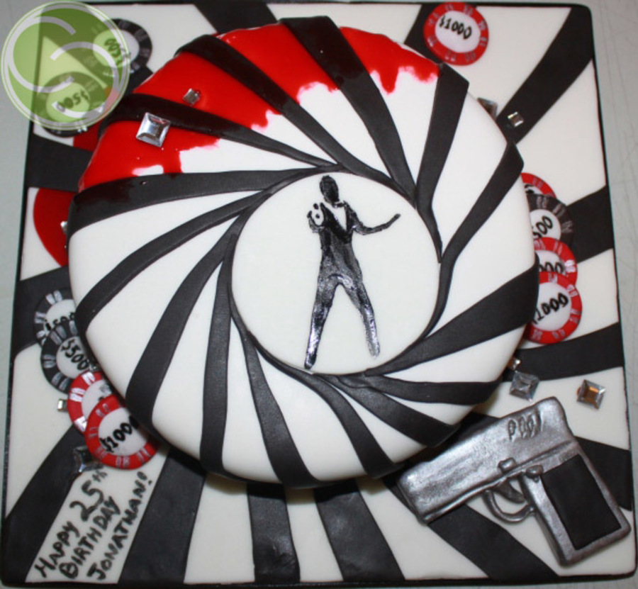 James Bond 25Th Birthday Cake on Cake Central