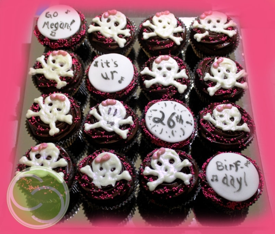 Girly Skull Cupcakes on Cake Central