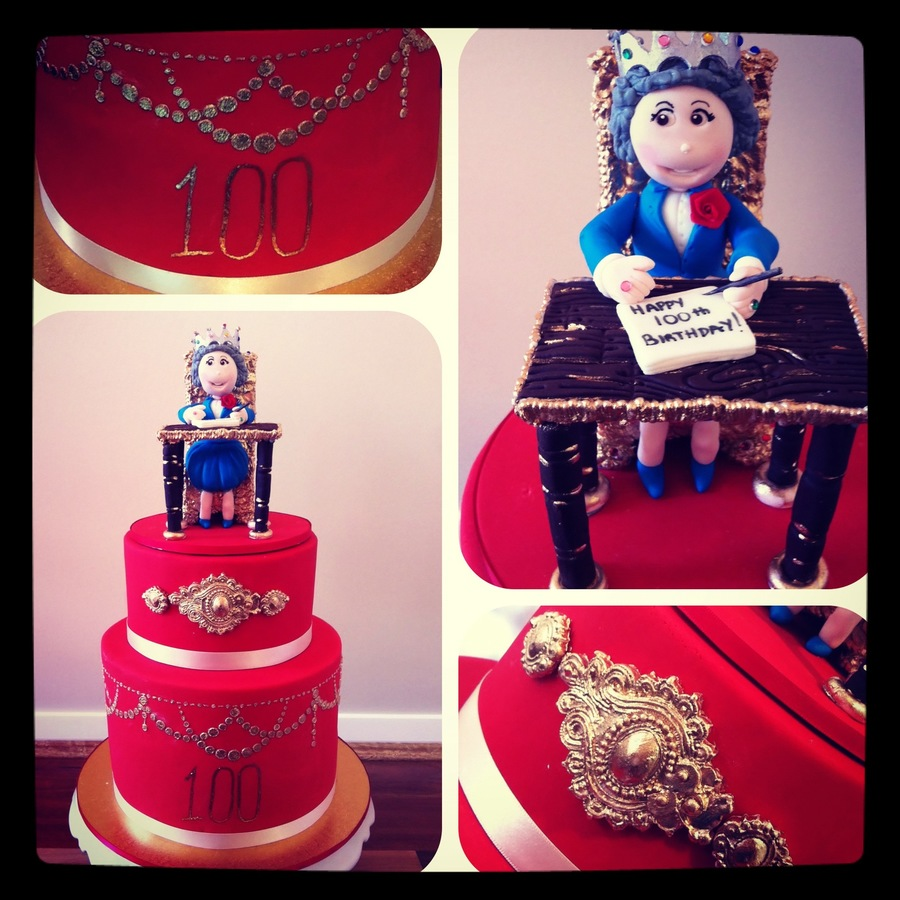 100Th Birthday Cake With The Queen  on Cake Central
