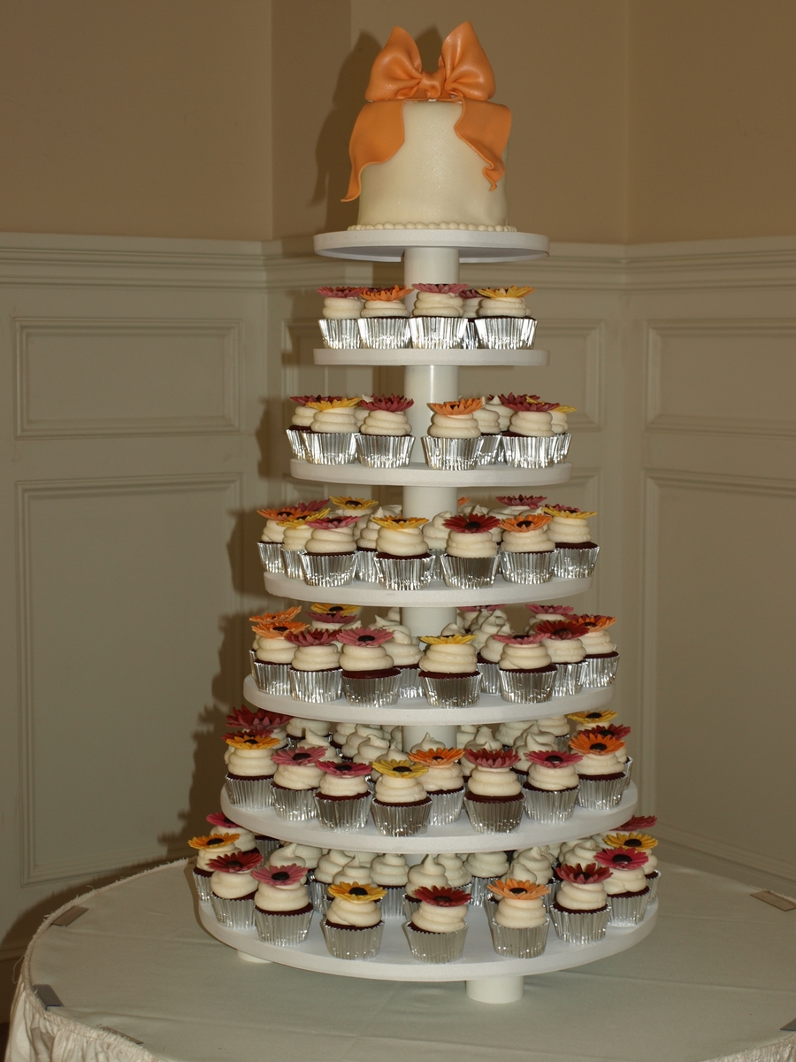 Cupcake Wedding Tower on Cake Central