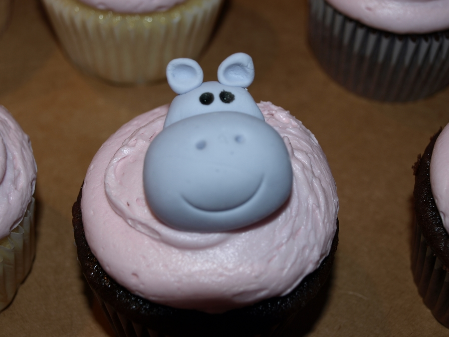 Hippo Cupcakes  on Cake Central