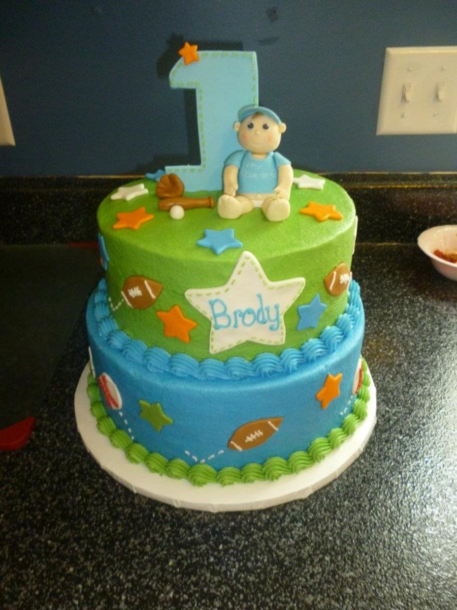 Brody's First Birthday on Cake Central