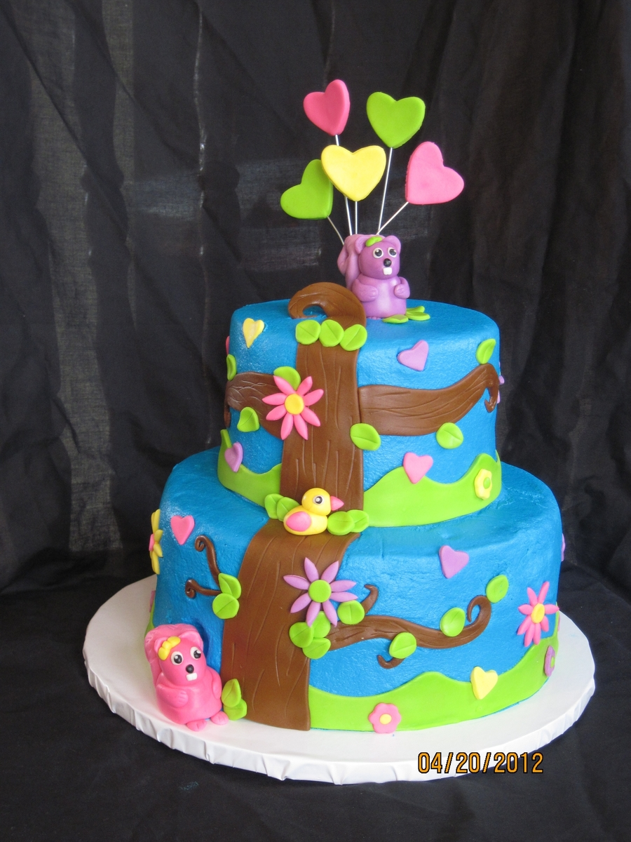 Twin Squirrels on Cake Central