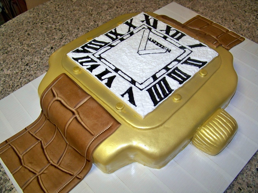 Awe Inspiring Cartier Watch Cake Cakecentral Com Personalised Birthday Cards Arneslily Jamesorg