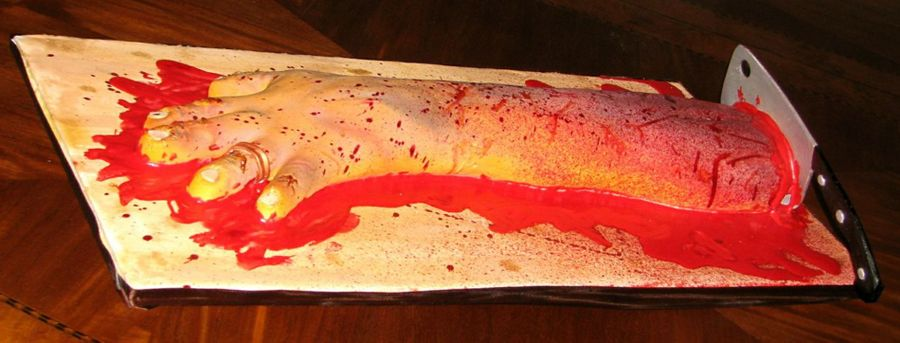 Zombie Severed Arm on Cake Central