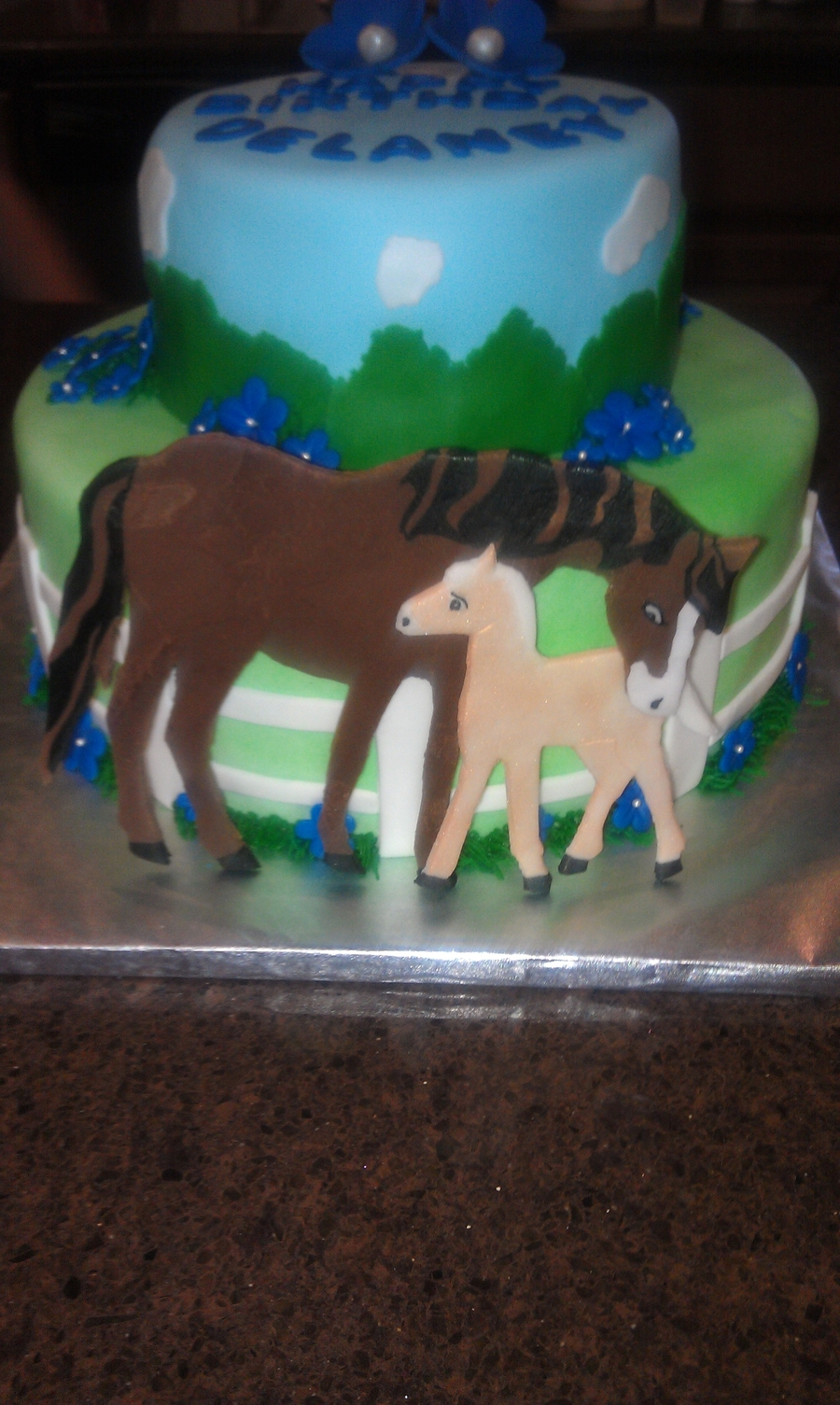 Horse Themed Cake Decoration : Horse Themed Birthday Cake - CakeCentral.com