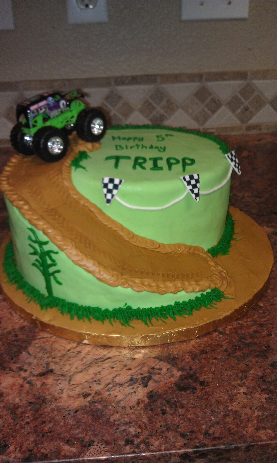 Prime Monster Truck Birthday Cake Cakecentral Com Funny Birthday Cards Online Fluifree Goldxyz