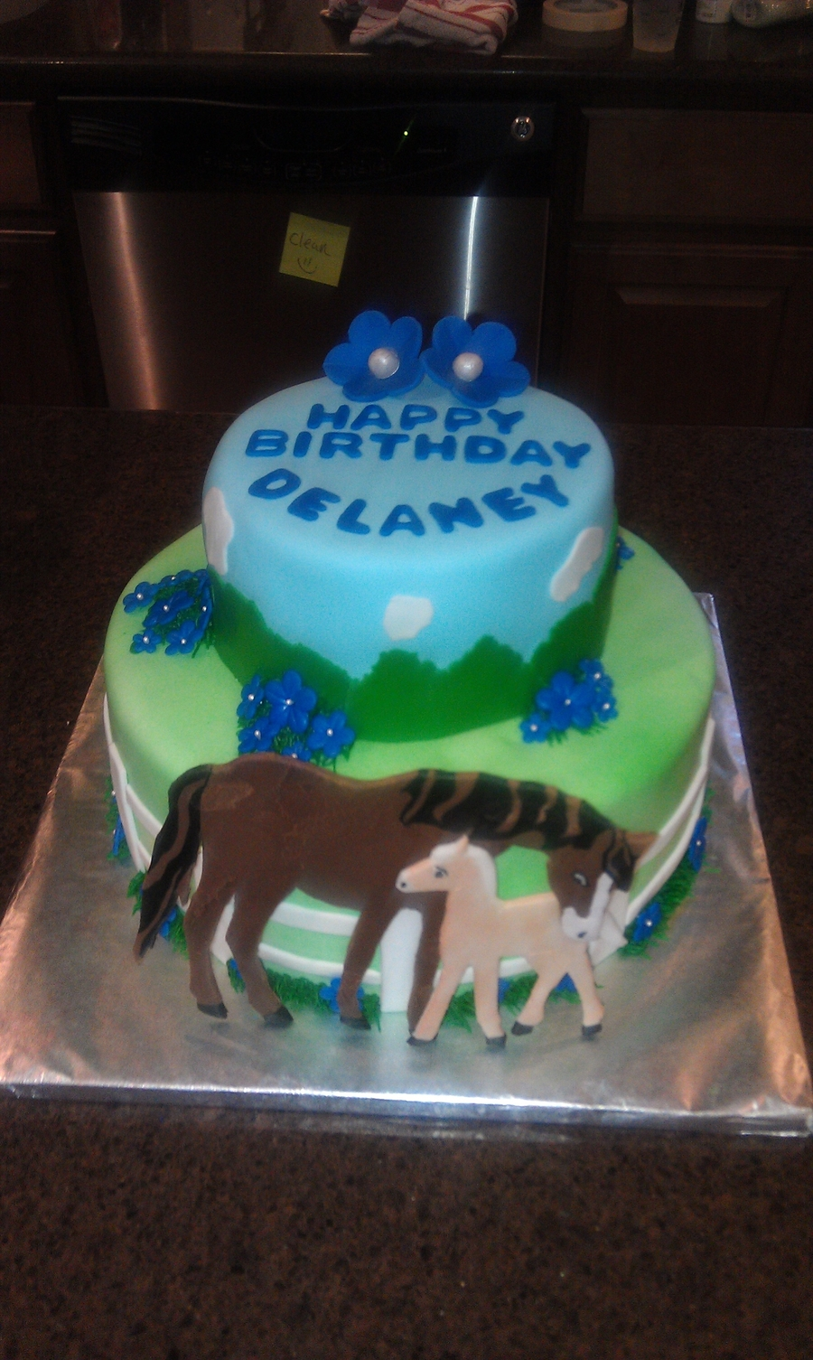 Enjoyable Horse Themed Birthday Cake Cakecentral Com Funny Birthday Cards Online Alyptdamsfinfo