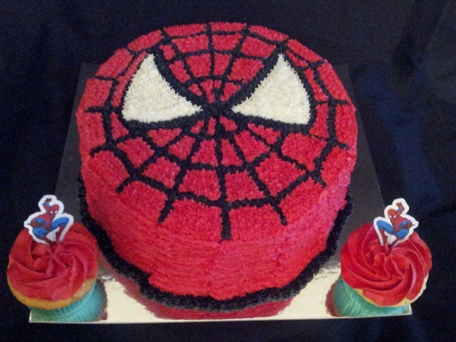 Spiderman Cake N Cupcakes  on Cake Central