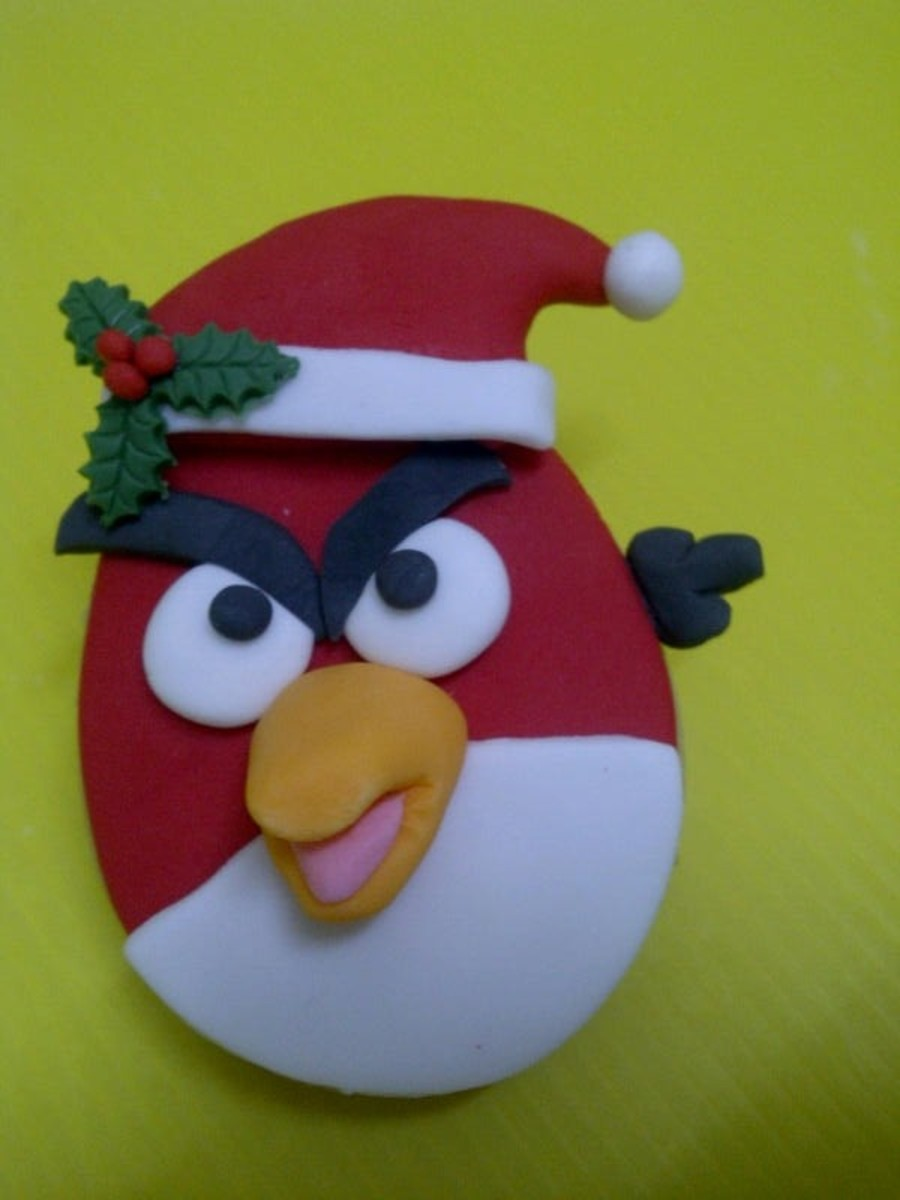 Angry Bird Santa Cookies on Cake Central
