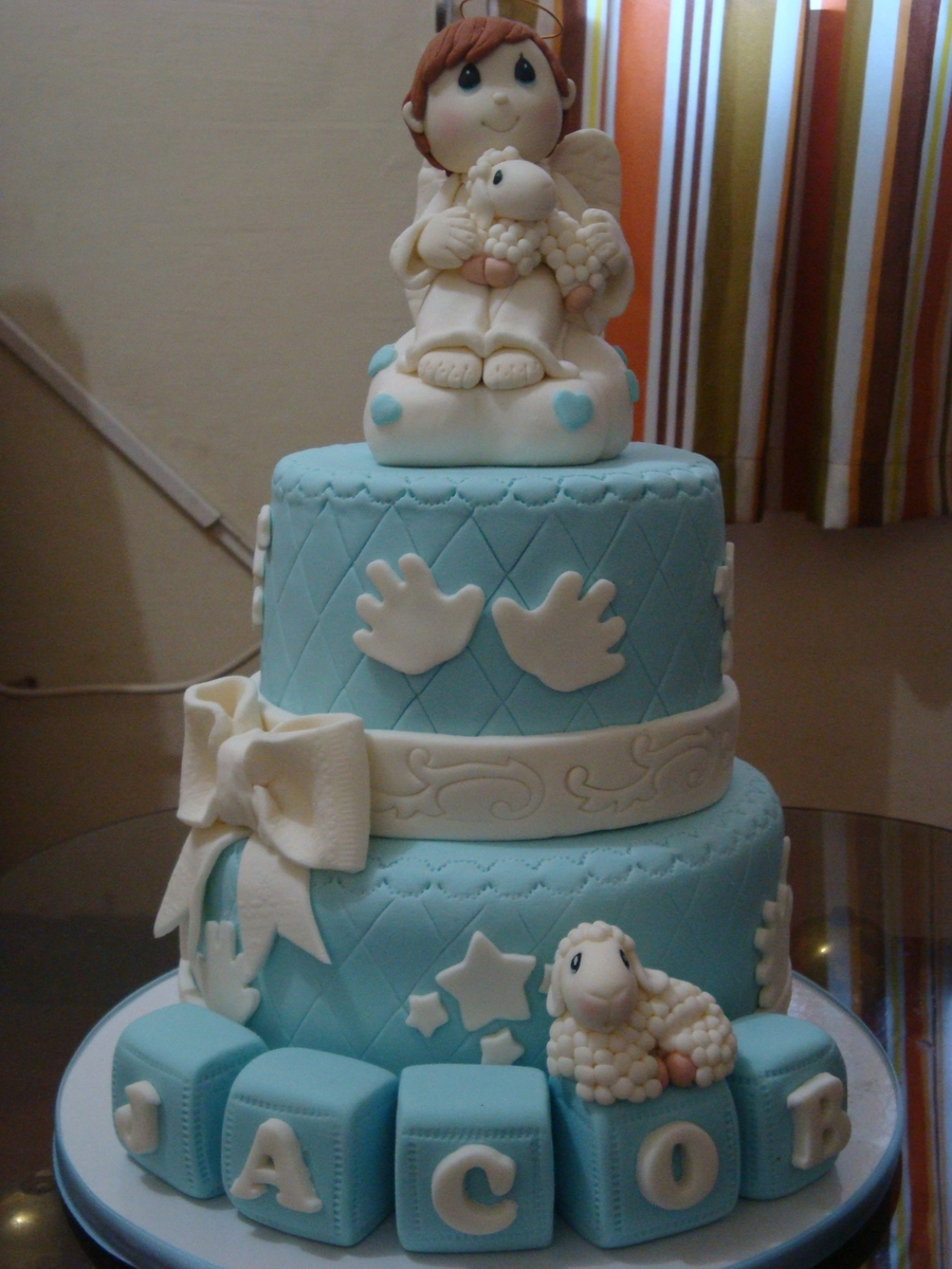 Precious Moments Christening Cake Toppers