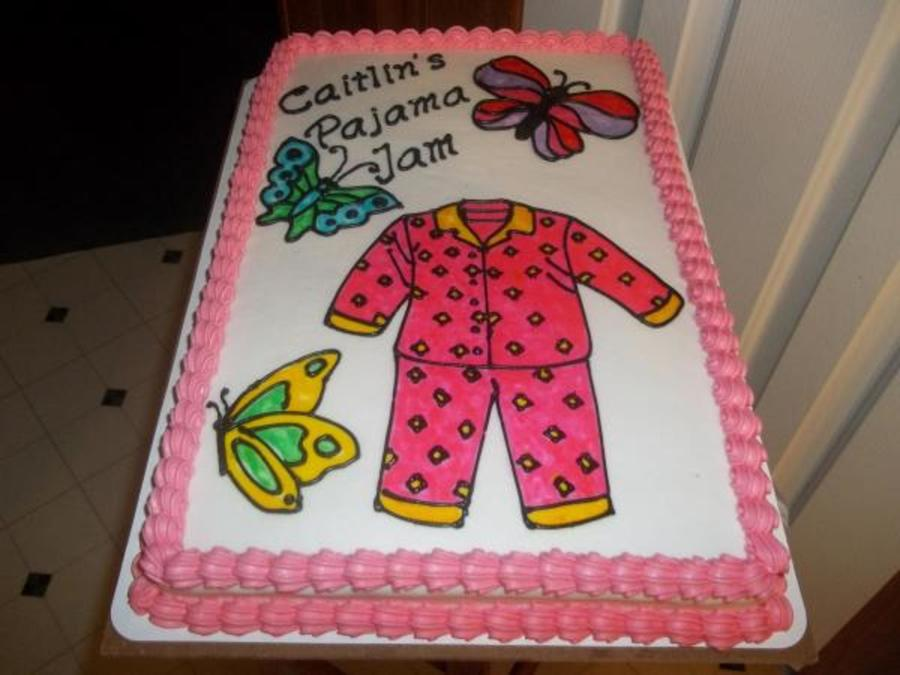 Caitlyn's Pajama Jam  on Cake Central