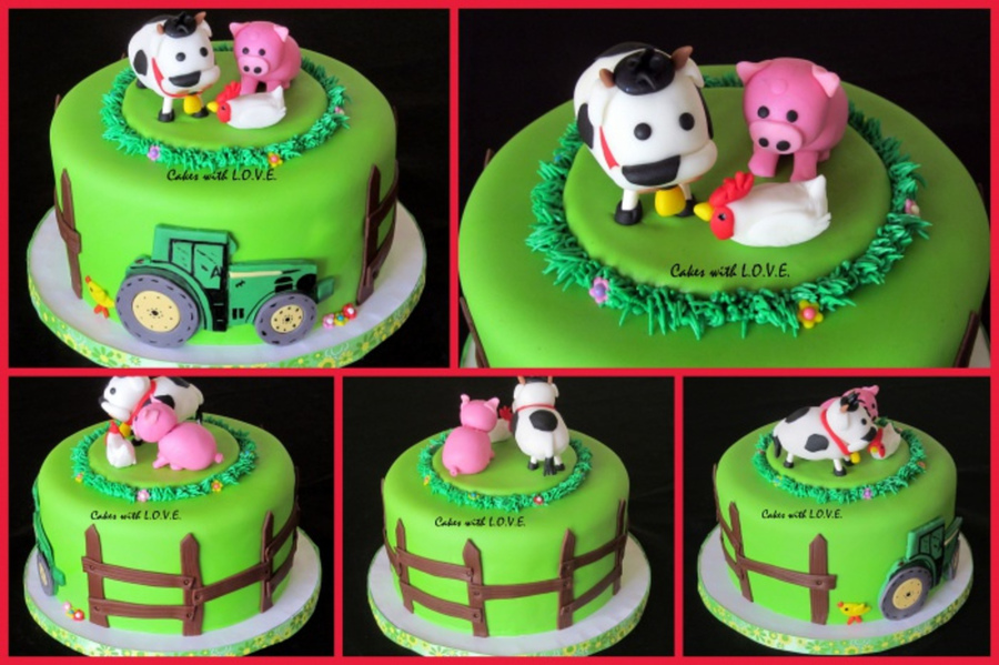 Farm Animals For Leah :) on Cake Central