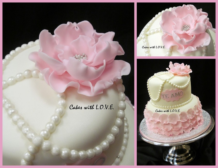 Petals And Pearls on Cake Central