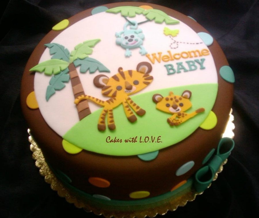 Baby Shower Cake Sayings Animal Theme
