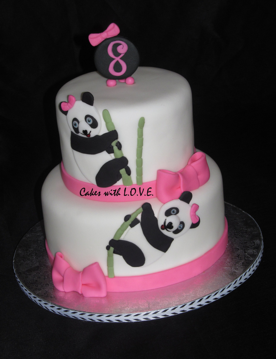 Pandas Birthday Cake  on Cake Central