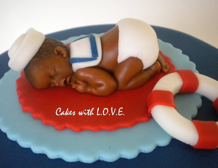 Nautical Theme Baby Shower Cakecentral Com