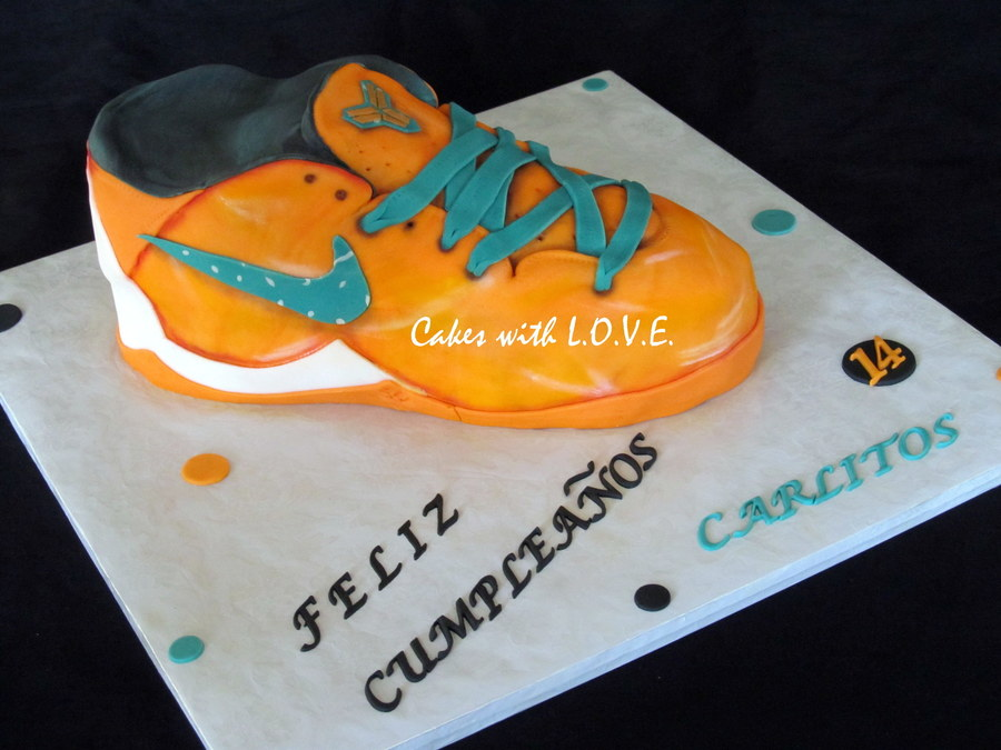 Kobe Bryant Shoe Cake :)  on Cake Central