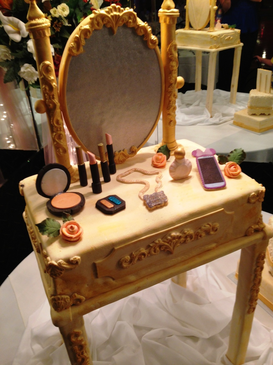 Vintage Inspired Vanity Table Birthday Cake Cakecentral Com
