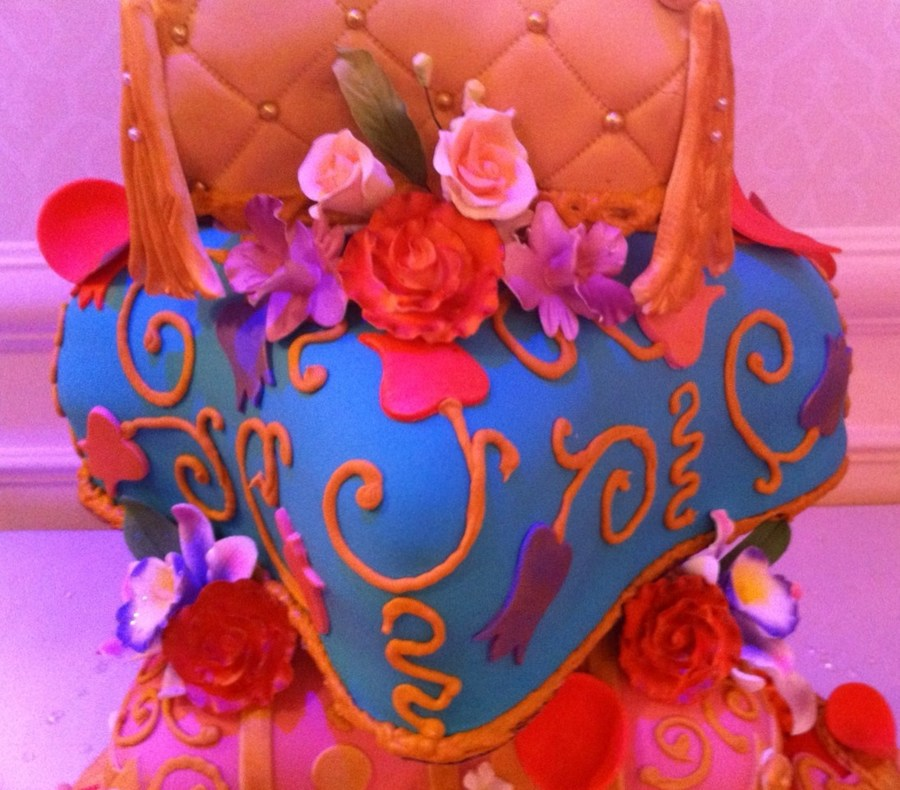 Arabian nights themed quinceanera cake for Arabian cake decoration