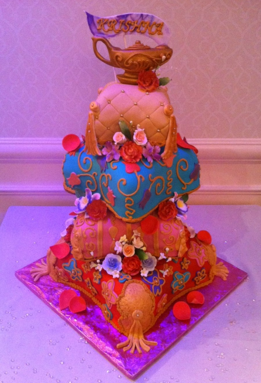 Arabian Nights Themed Quinceanera Cake Cakecentral Com