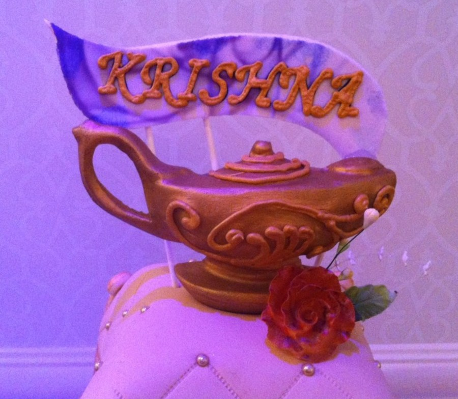 Arabian nights themed quinceanera cake for Arabian cake decoration