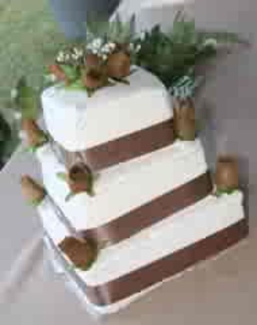 Brown Wedding Cake on Cake Central