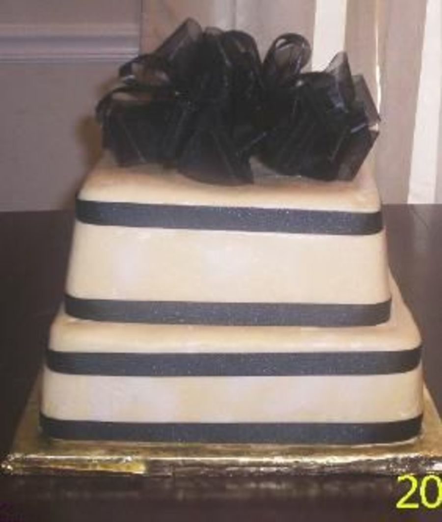 Gold & Black Wedding Cakes on Cake Central