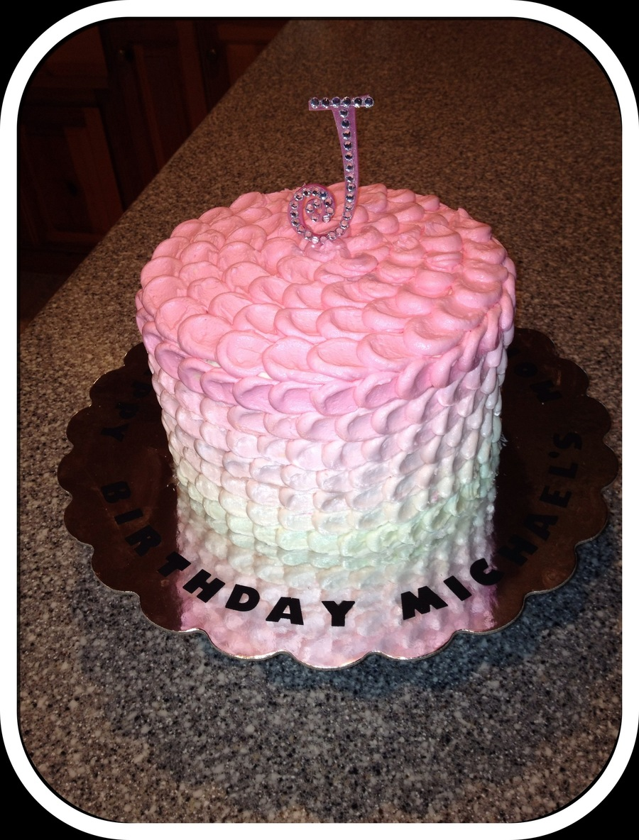 Ombre Pink on Cake Central