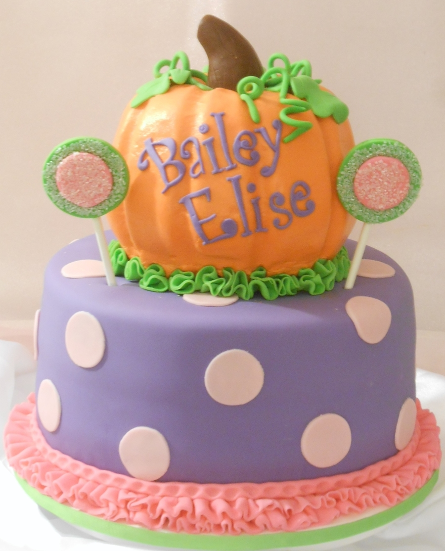 Pumpkin Smash Cake: Pumpkins & Polka Dots