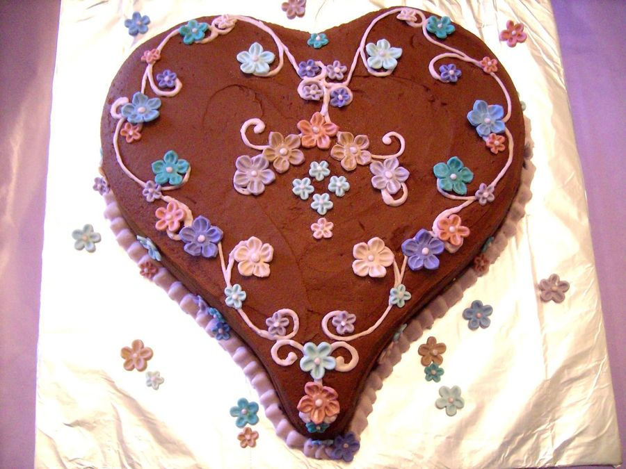 Valentine Heart  on Cake Central