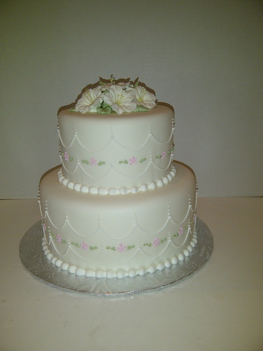 Pretty Bridal Cake on Cake Central
