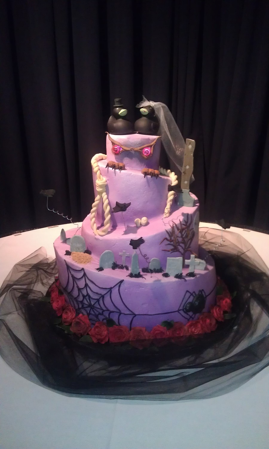 Halloween Themed Wedding Cake Cakecentral Com