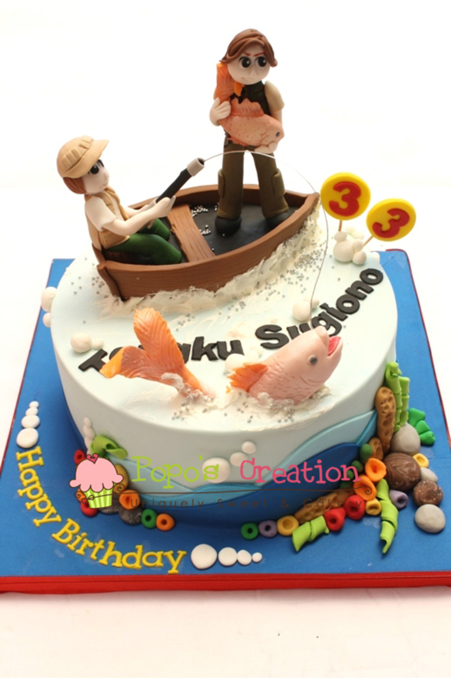Fishing Man on Cake Central