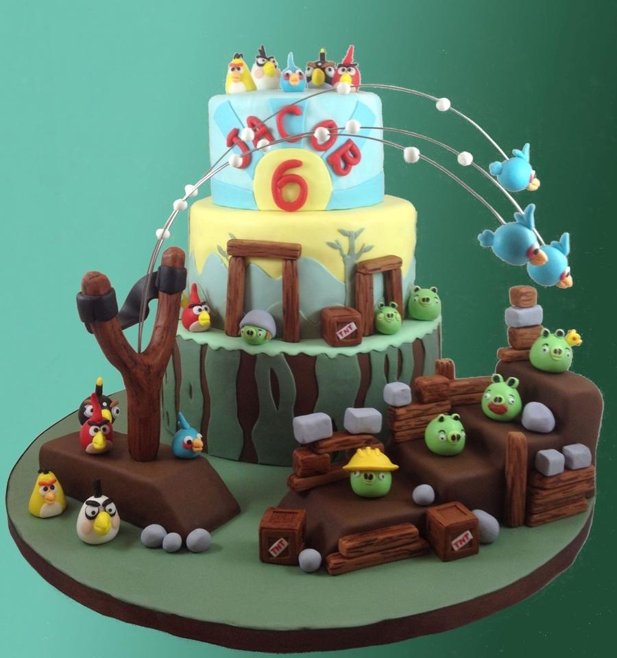 Angry Birds Birthday Cake - CakeCentral.com