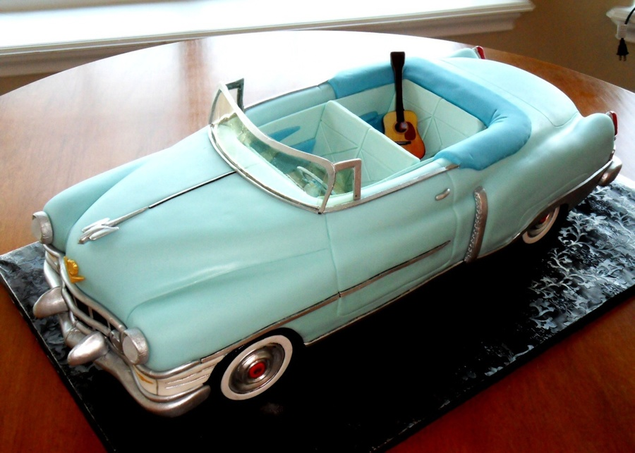 Hank William S Cadillac And Guitar Cakecentral Com