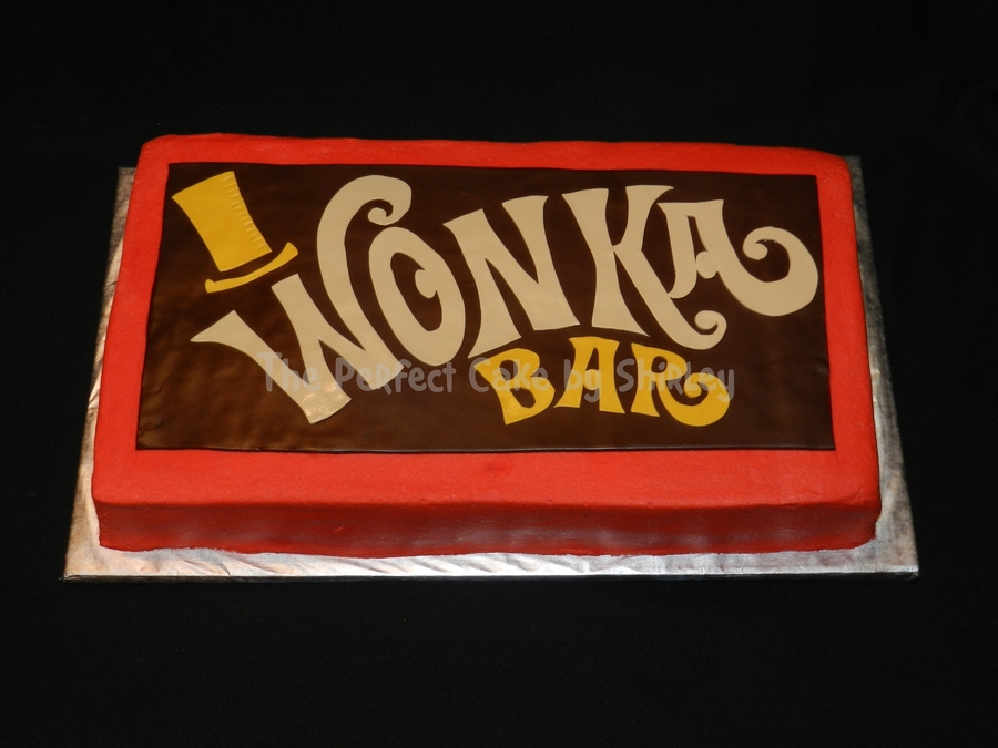 Willy Wonka Chocolate Bar on Cake Central