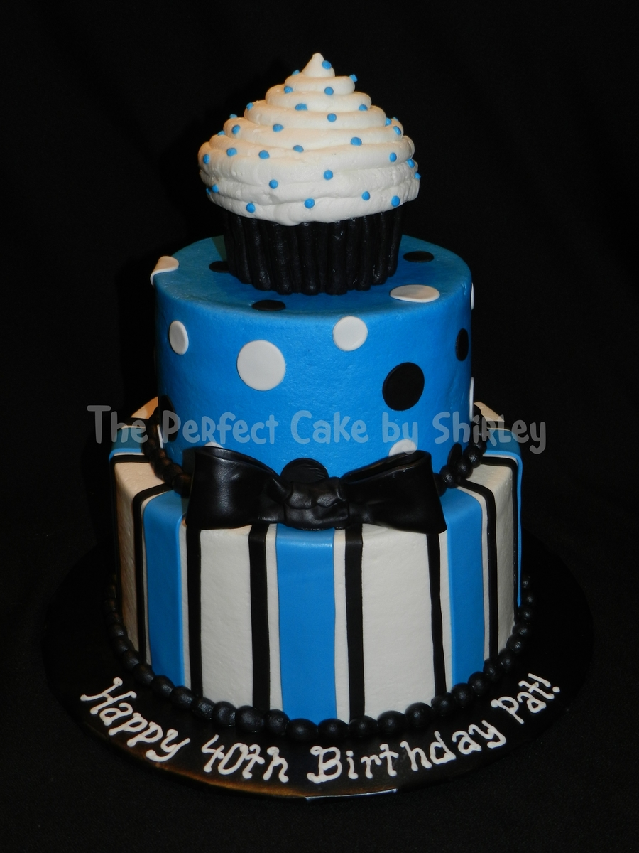Masculine Cupcake Cake on Cake Central