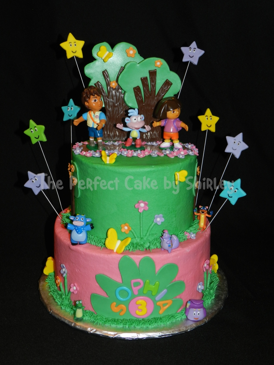 Incredible Dora And Diego Birthday Cake Cakecentral Com Funny Birthday Cards Online Alyptdamsfinfo