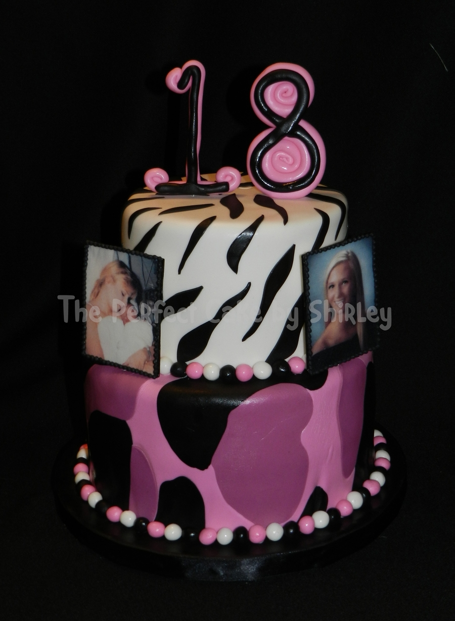 Pink camo 18th birthday cake for 18th birthday cake decoration