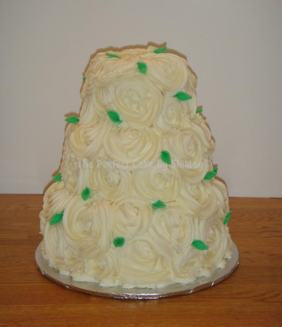 Wedding Cake W Swirls