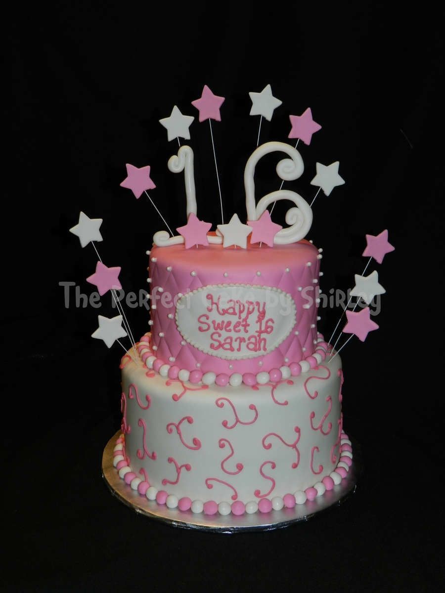 Pink Sweet 16 Cake on Cake Central