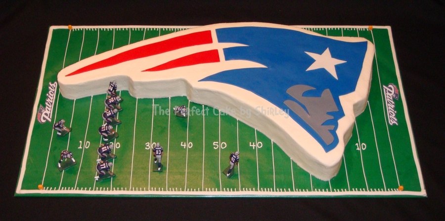 New England Patriots Cake On Central